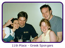 11th Place - Greek Spongers