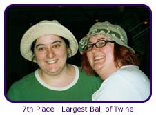 7th Place - Largest Ball of Twine