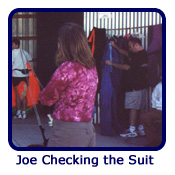 Joe Checking the Suit
